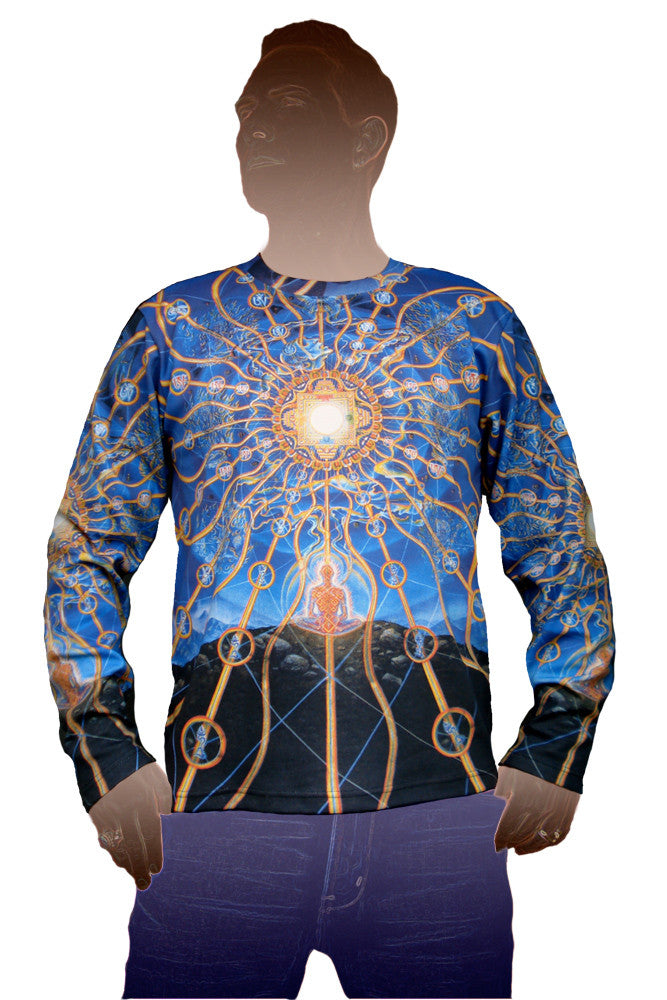 Longsleeve T-shirt - Visionary Art Clothing - Alex Grey - Nature of Mind