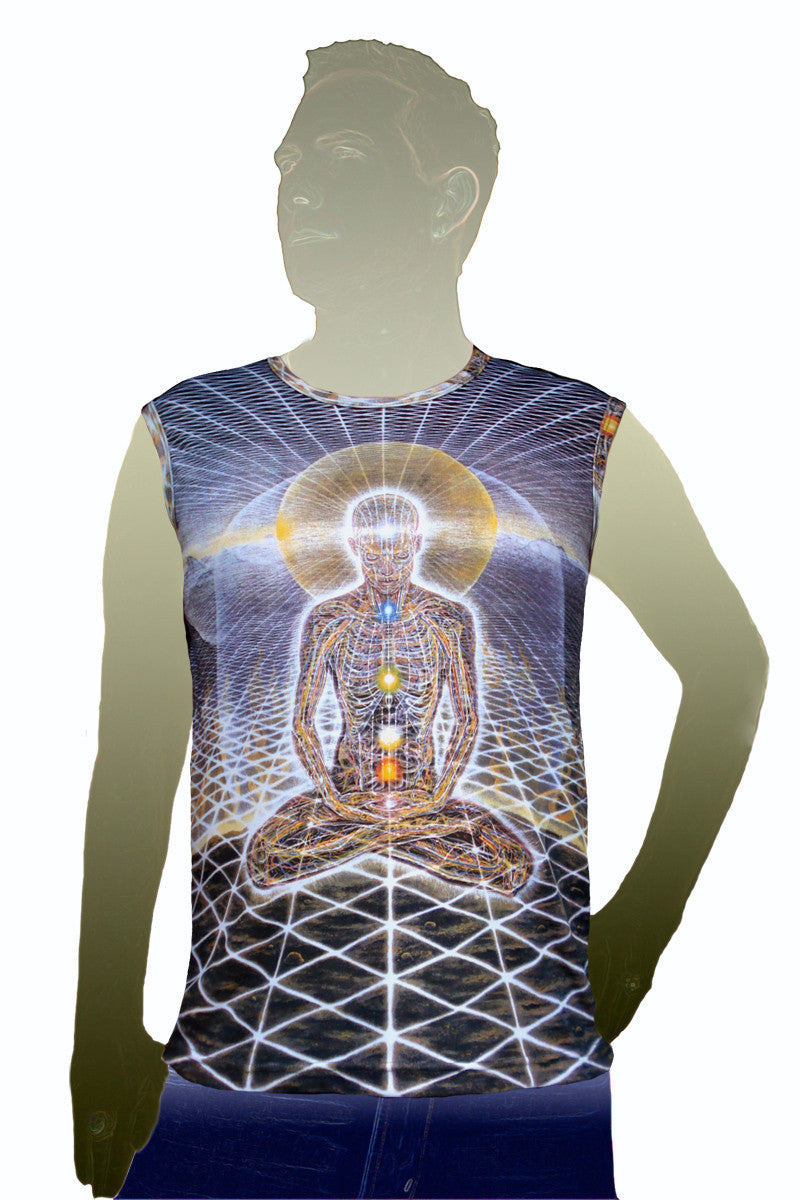 Mens Tank Top Theologue- Art by Alex Grey