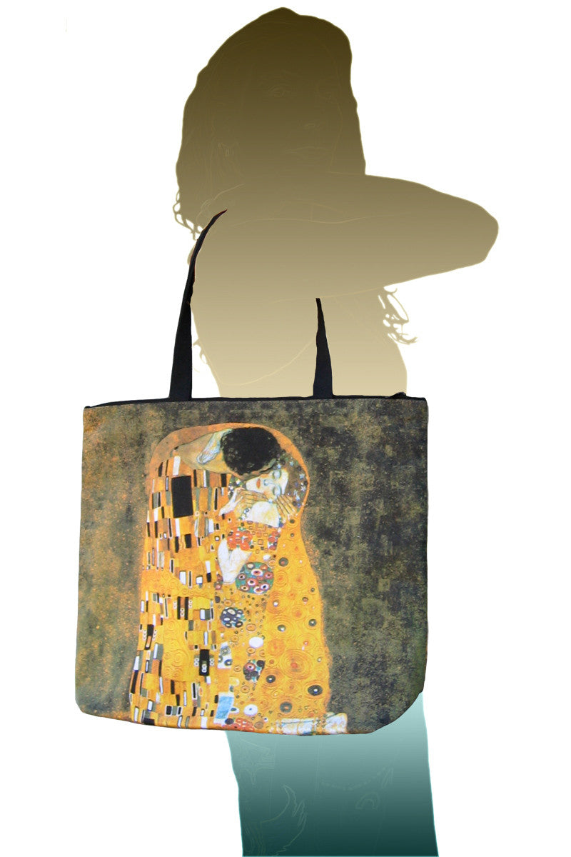 Tote Bag Gustav Klimt Print The Kiss