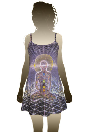 Mini Dress Alex Grey Visionary Art Tool Album - Theologue