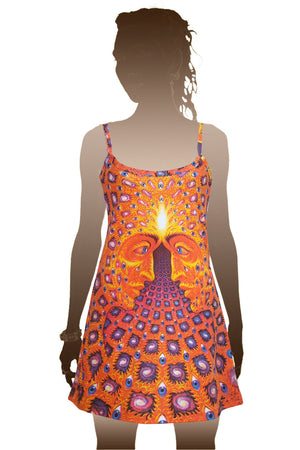 Mini Dress Alex Grey Psychedelic Festival Print - One