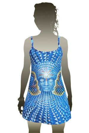 Mini Dress Alex Grey Visionary Art - Diamond Being