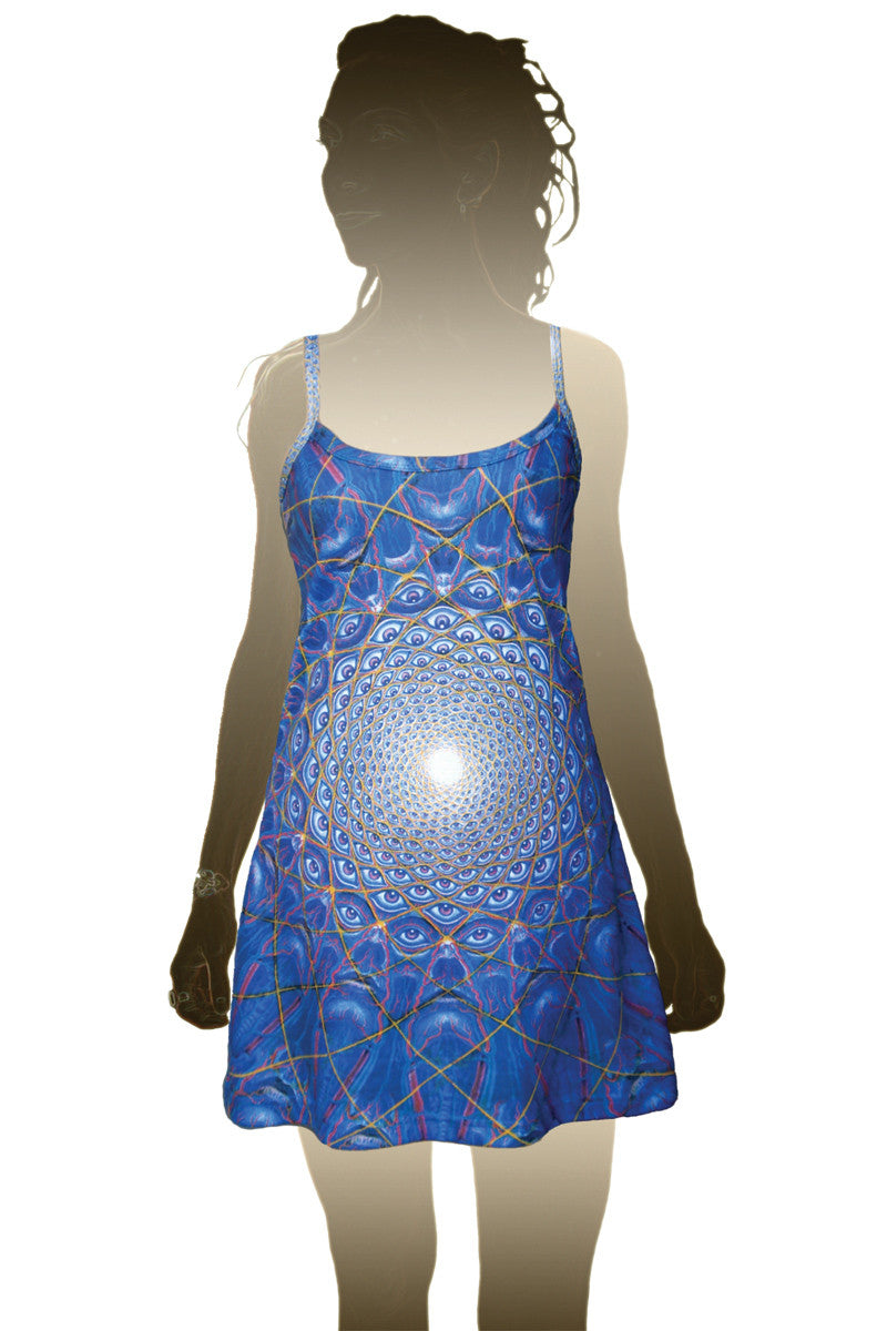Mini Dress Alex Grey Psychedelic Print Collective Vision
