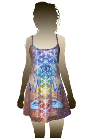 Mini Dress - Psychedelic Art - Crystal Buddha