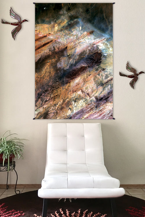 Nature Tapestry - Fabric Tapestry - Earth Tapestry - Impact
