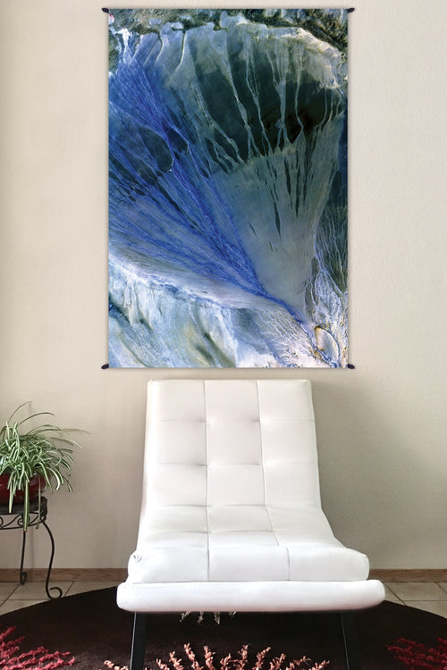 Nature Tapestry - Fabric Tapestry - Earth Tapestry - Alluvial Fan