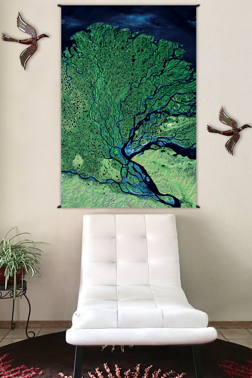 Nature Tapestry - Fabric Tapestry - Earth Tapestry - Lena Delta