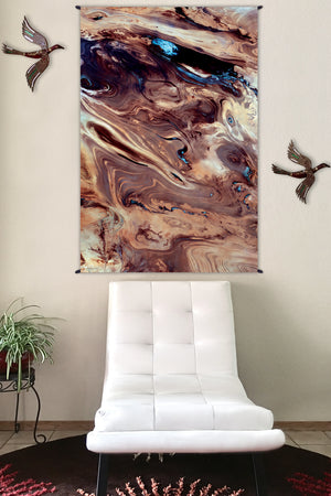 Nature Wall Hangings - Fabric Tapestry - Landscape Tapestry - Dasht-e Kavir