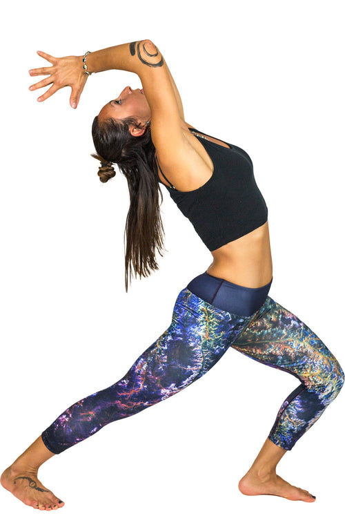 Capri Leggings - Printed Yoga Leggings - Ghadamis