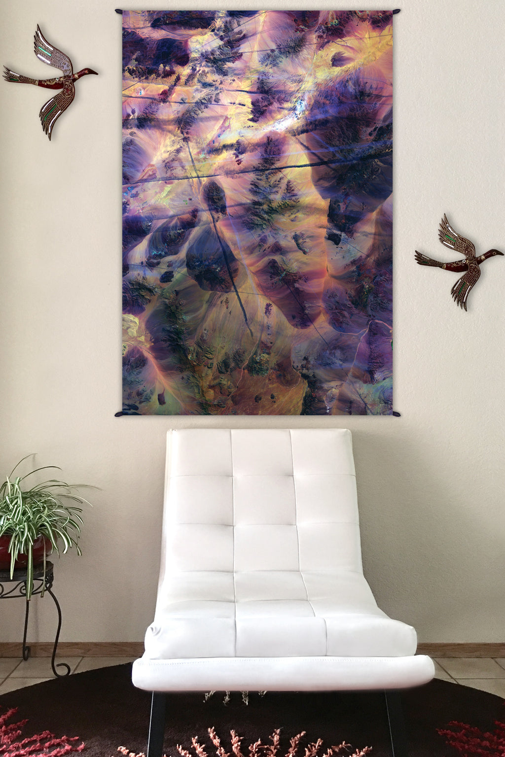 Psychedelic Tapestry - Hippie Tapestry - Nature Wall Tapestry - Contrails