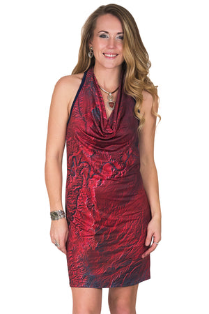 Sleeveless Cowl Neck Dress-Map Dress-Nature Clothing-Desolation Canyon