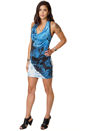 Sleeveless Cowl Neck Dress-Hippy Lovers Clothing-Nature Lovers-Kamchatka