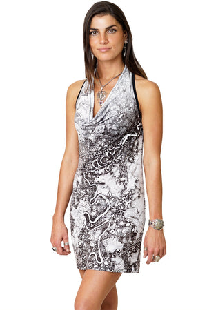 Sleeveless Cowl Neck Dress-Google Earth Clothing-Mayn River