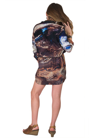 Traveler's Dress-Landscape Clothing-Digital Print Clothing-Nature Dress-Dasht-e Kavir