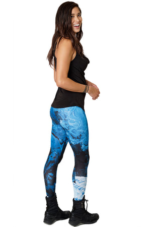 Printed Yoga Leggings-Earth Clothing-Nature Leggings-Map Leggings-Kamchatka