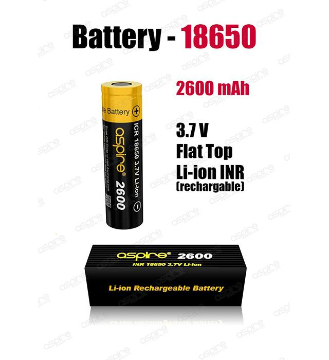 Aspire - 18650 Li-ion Battery 2600 mAh
