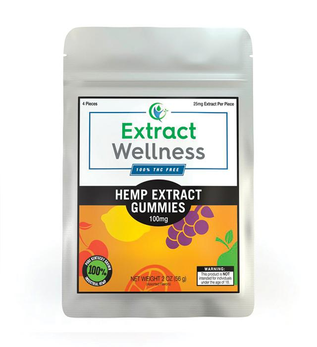 Extract Wellness - 100% THC Free Hemp Gummies