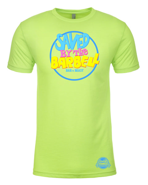 Saved by the Barbell Men's Tee (Neon Heather Green)