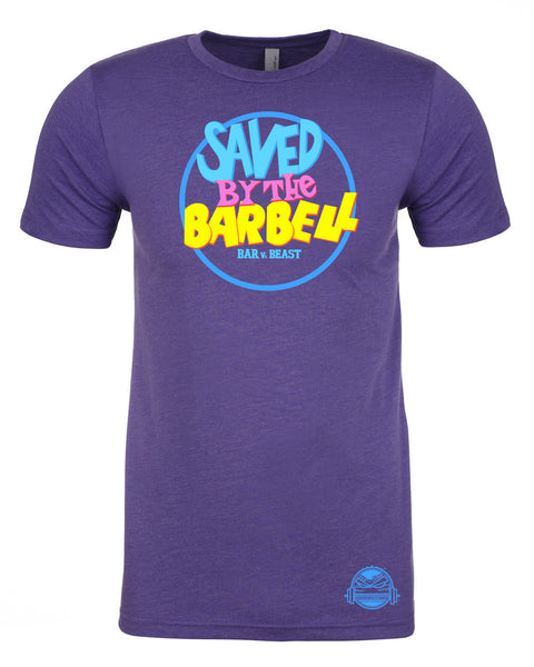 Saved by the Barbell Men's Tee (Purple Rush)