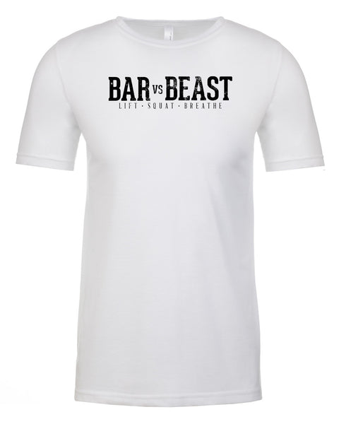 Bar vs. Beast Men's Tee (White)