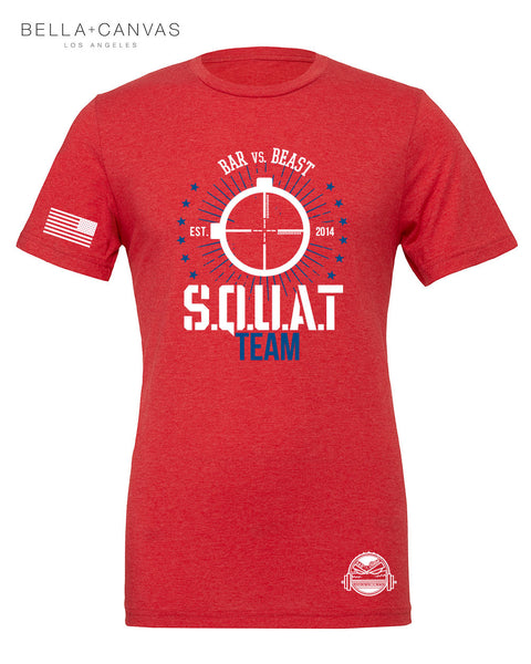 Squat Team Men's Tee (Red)