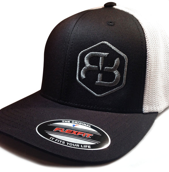 BvB Grey Flexfit Trucker Mesh 2-Tone (Black/White)