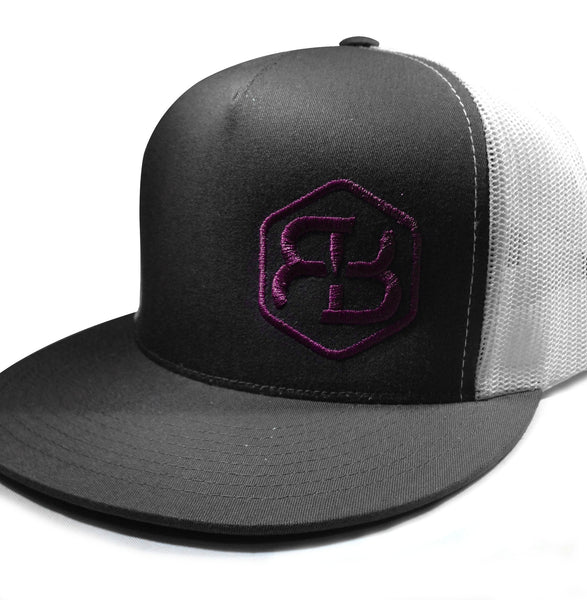BvB Purple Classic Trucker 2-Tone (Charcoal/White)