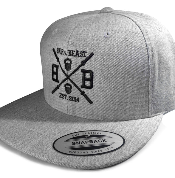 Bar vs. Beast Classic Snapback (Heather Grey)