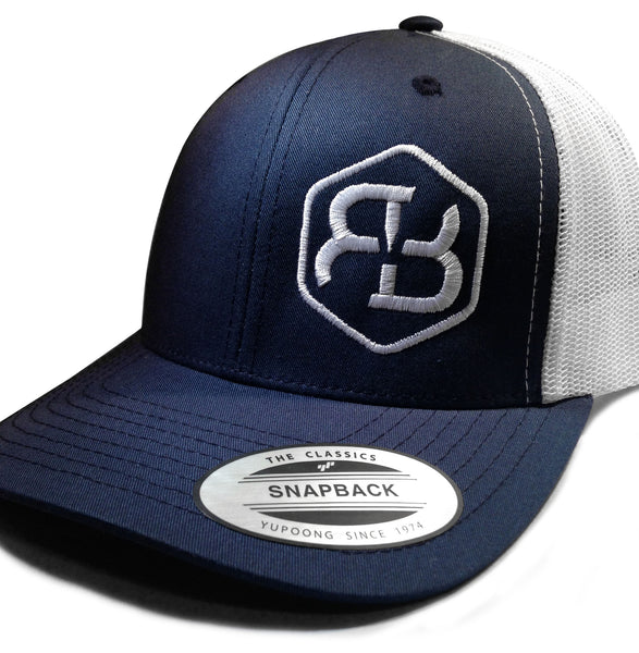 BvB White Retro Trucker 2-Tone (Navy/White)