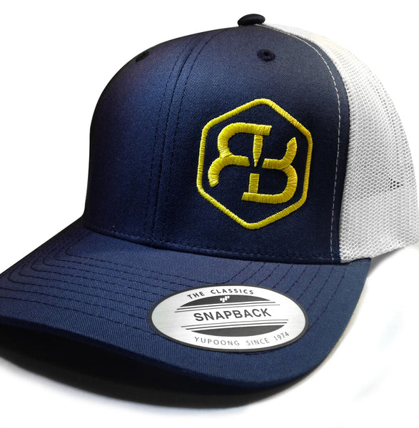 BvB Yellow Retro Trucker 2-Tone (Navy/White)