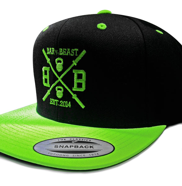 Bar vs. Beast Classic Snapback (Black/Neon Green)