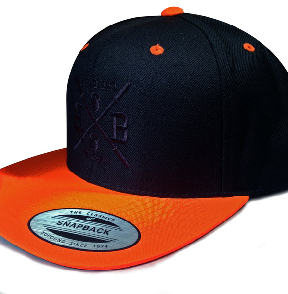Bar vs. Beast Classic Snapback (Black/Neon Orange)