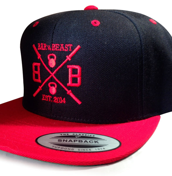Bar vs. Beast Classic Snapback (Black/Red)