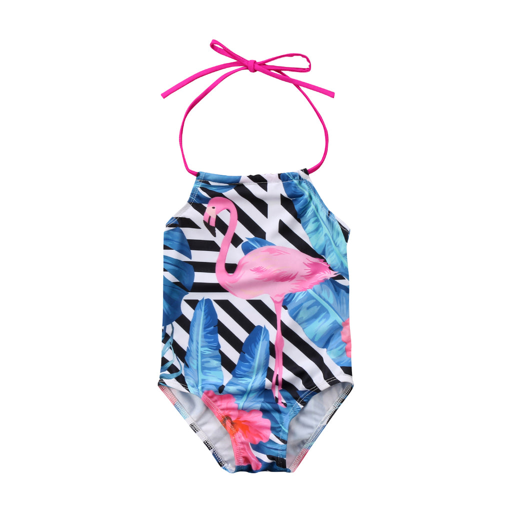 Baby Girl/Kids Flamingo Swimsuit