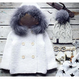Baby Girl/Boy Fuzzy Hooded Sweater