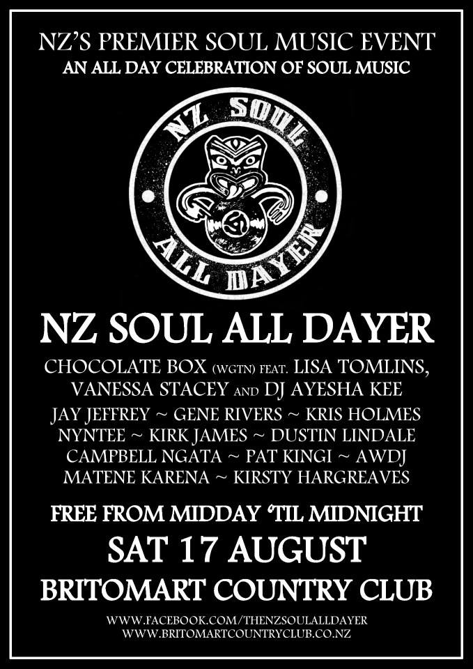 GIG: NZ Soul All Dayer #2 - Sat 17th August | Conch Records