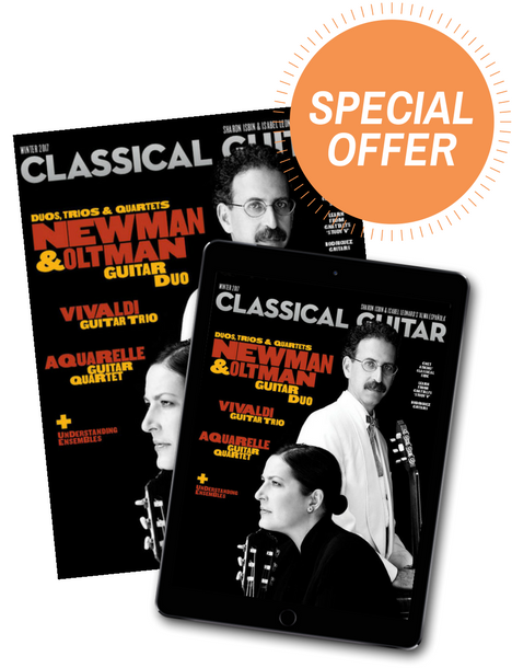 Classical Guitar Magazine Subscription for Classical Guitar Societies