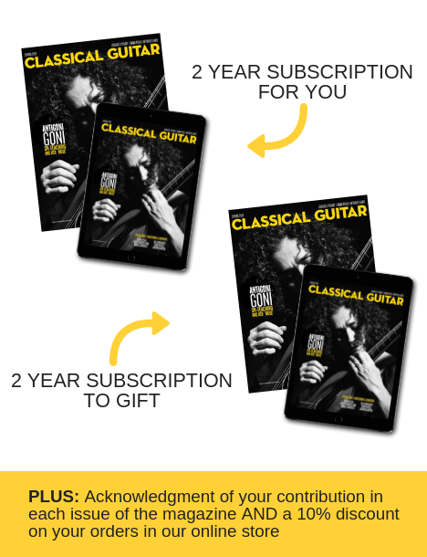 Classical Guitar Sustaining Subscriber