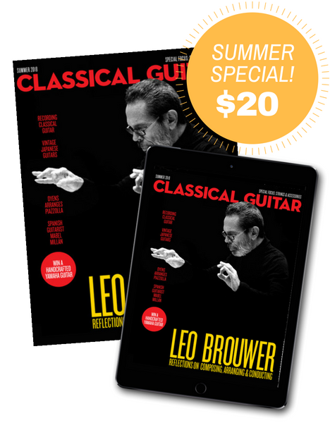 Classical Guitar Summer Subscription Sale