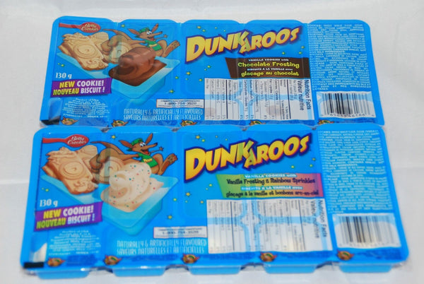 DUNKAROOS Chocolate or Vanilla Frosting with Rainbow Sprinkles (INTERNATIONAL SHIPPING)