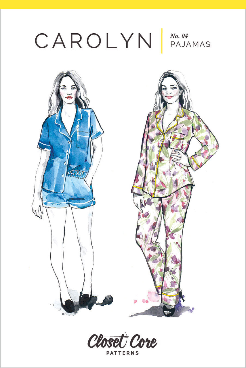 Carolyn Pajamas Pattern // Envelope front // Closet Core Patterns