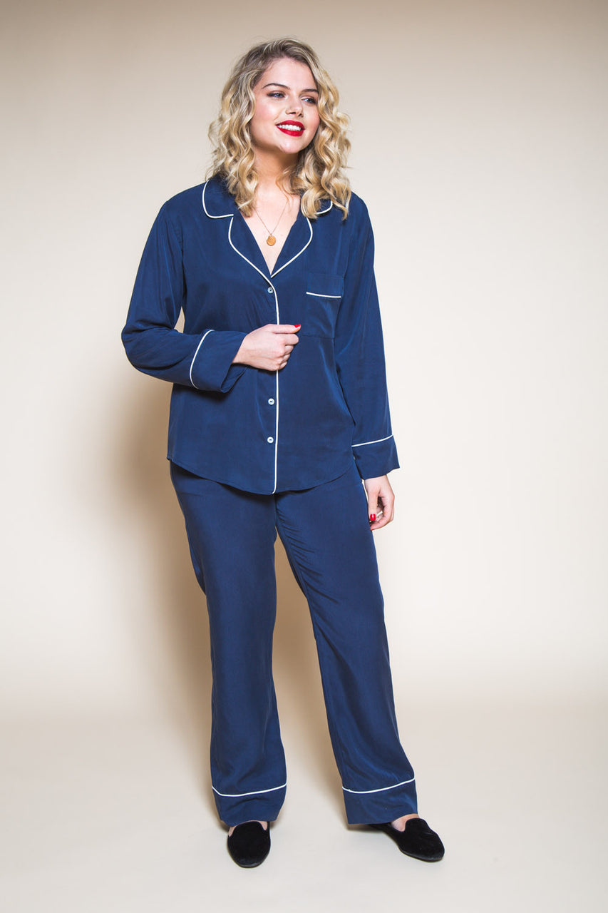 Carolyn Pajamas Pattern // Pajama bottom + long sleeved pajama top // Closet Case Patterns