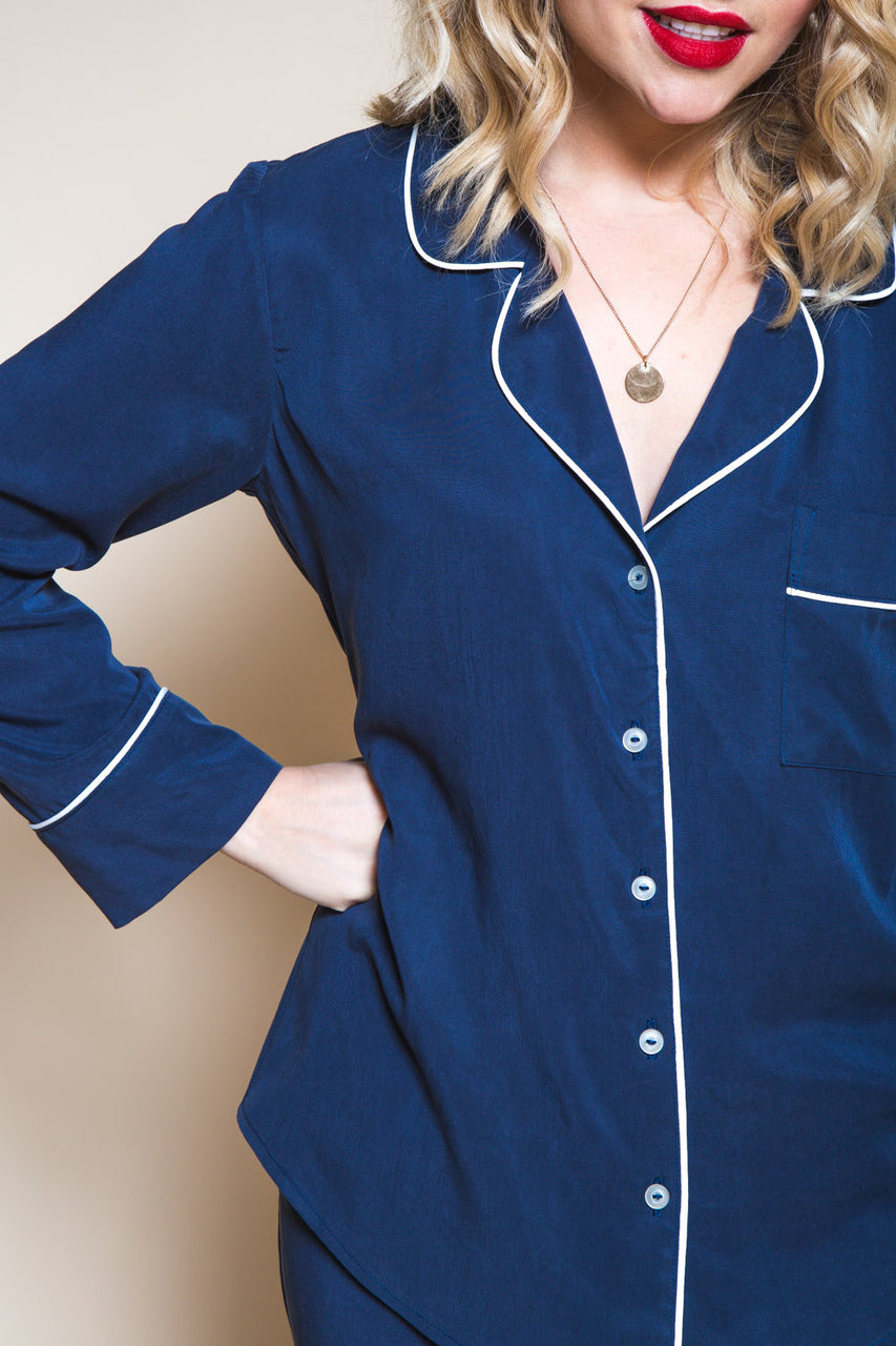 Carolyn Pajamas Pattern // Pajama bottom + long sleeved pajama top // Closet Core Patterns