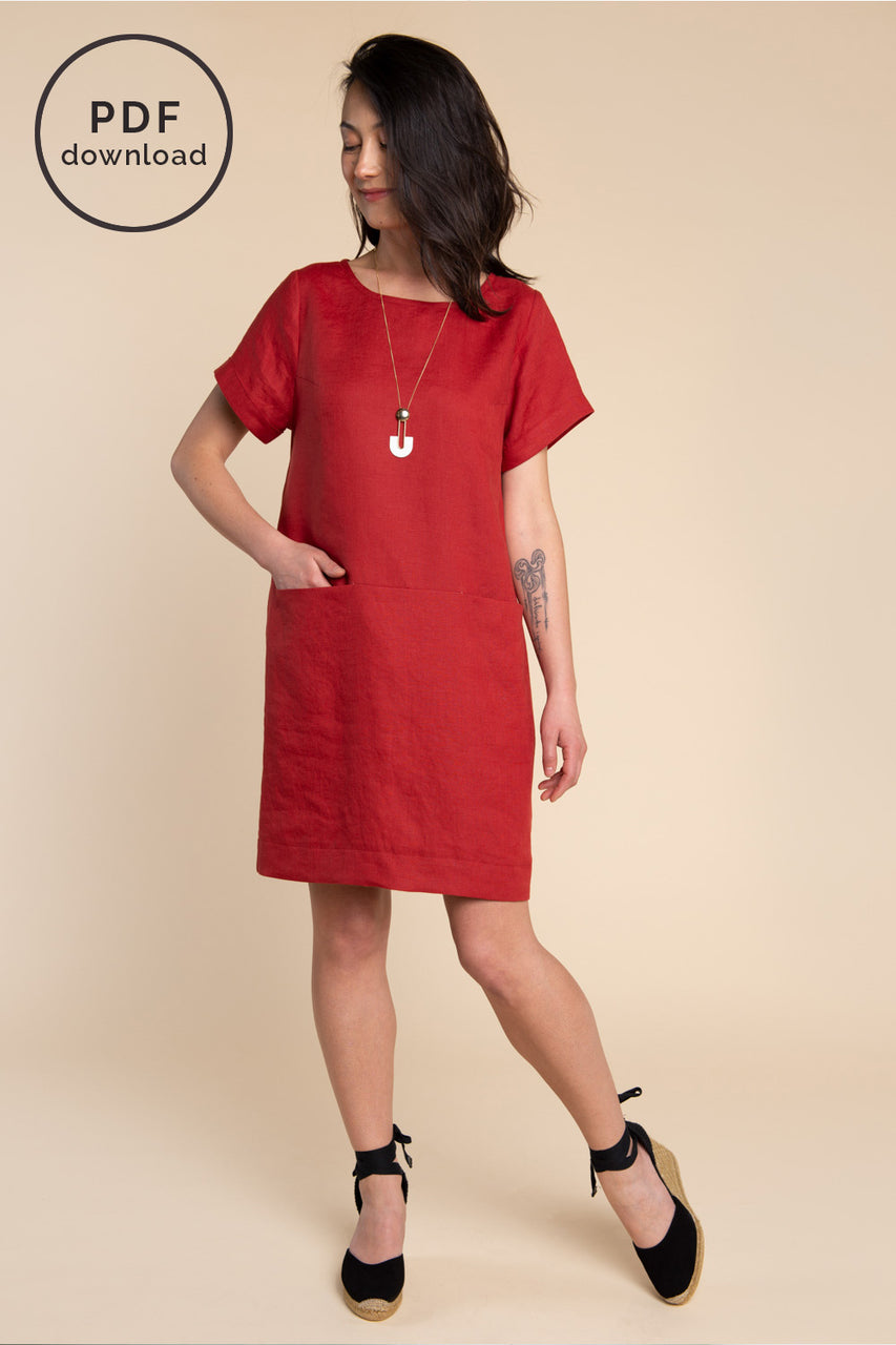 Cielo Top & Dress Sewing Pattern - Dress with inseam pockets | Closet Case Patterns