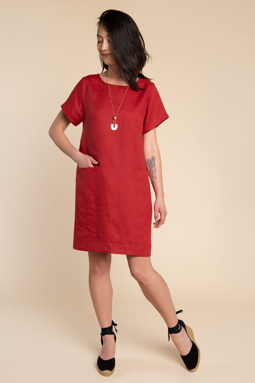 Cielo Top & Dress Sewing Pattern - Dress with inseam pockets | Closet Core Patterns
