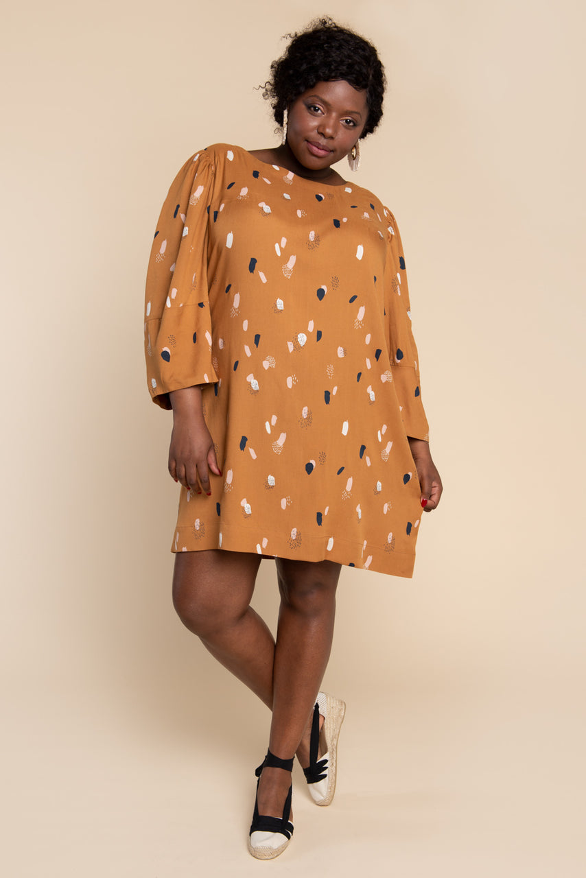 Cielo Top & Dress Sewing Pattern - Shift dress with gathered sleeves | Closet Core Patterns