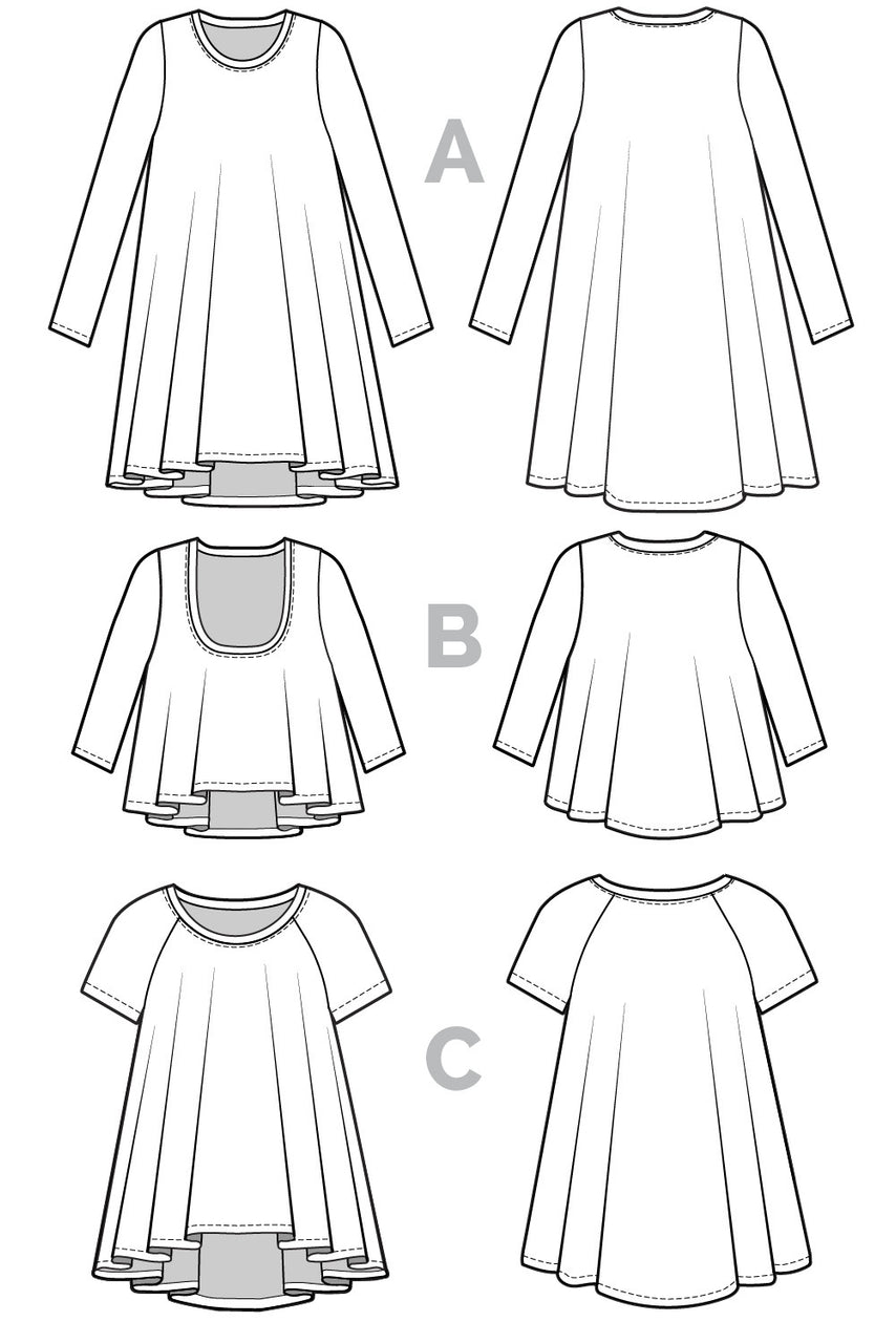 Ebony T-Shirt & Knit Dress Pattern | PDF Download