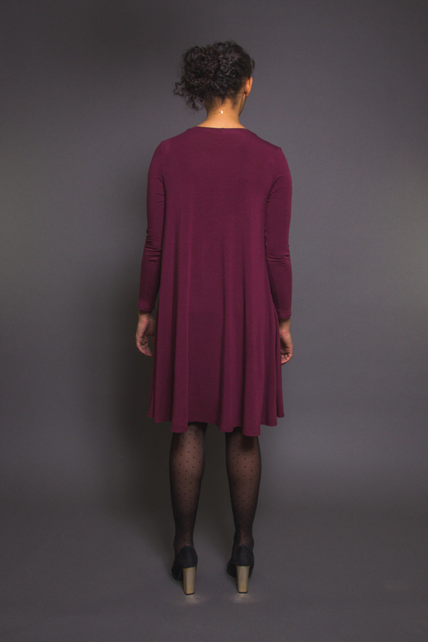 Ebony Tee Pattern // Knit Dress Pattern - back // Closet Core Patterns