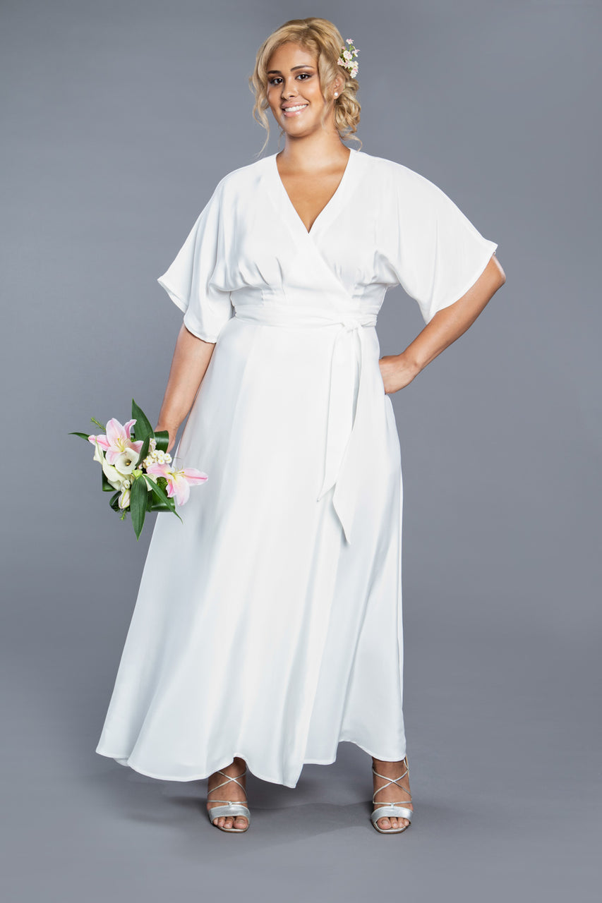Wedding dress sewing pattern / Elodie Wrap Dress Pattern | Closet Core Patterns