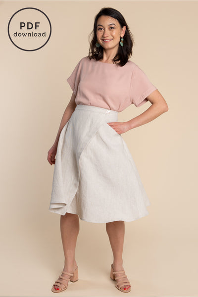 Fiore Skirt Pattern - Asymmetrical Wrap skirt pattern | Closet Case Patterns